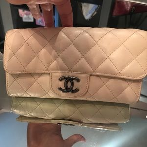 Chanel large Ivory wallet / clutch